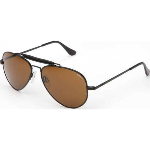 Randolph Engineering Sportsman Matte Black Sunglasses | Tan Polarized PC Skull 61MM SP12432-PC