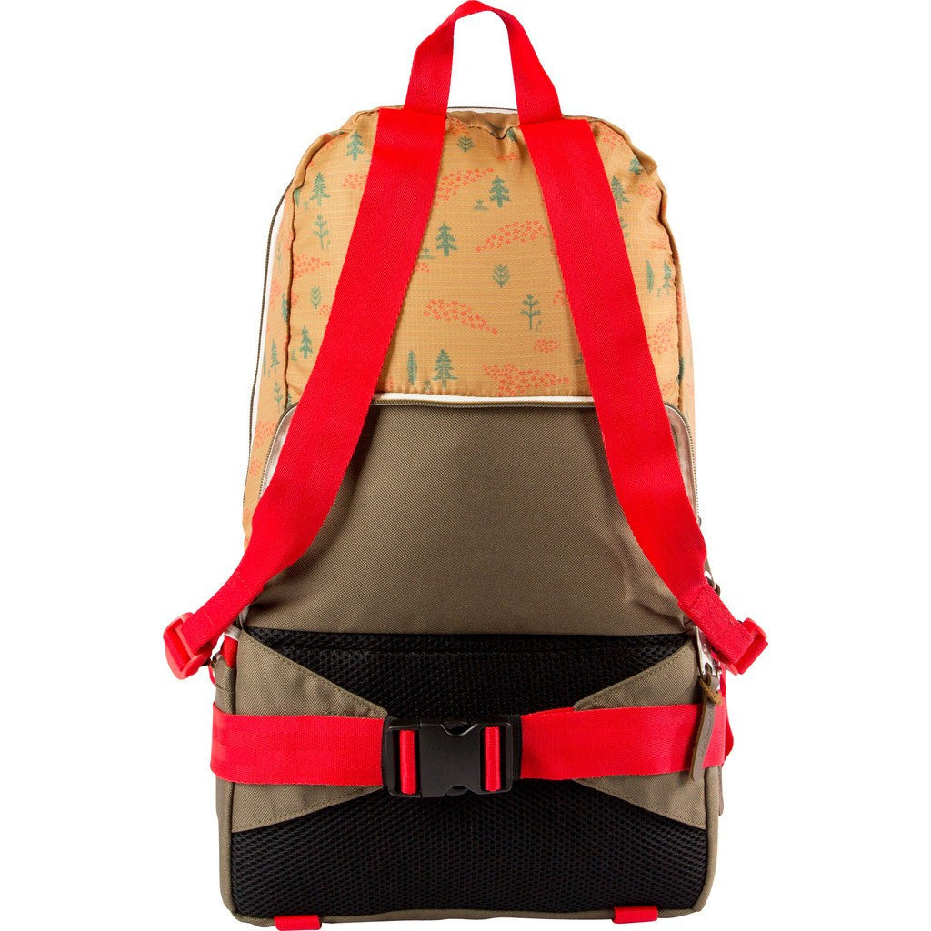 Poler Tourist Pack Backpack | Almond Forestry Print 612027-ALD-OS