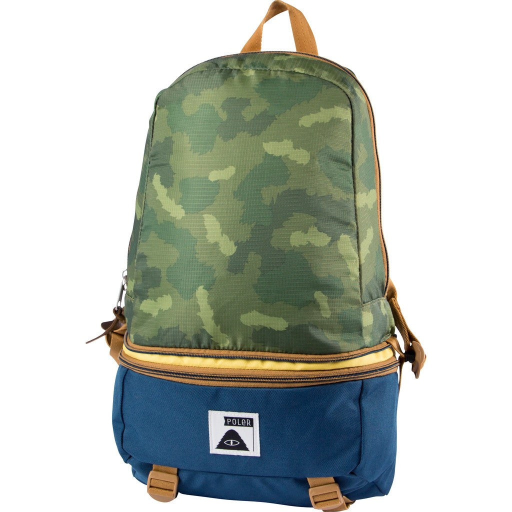 Poler Tourist Pack Backpack | Green Camo 612027-GCO-OS