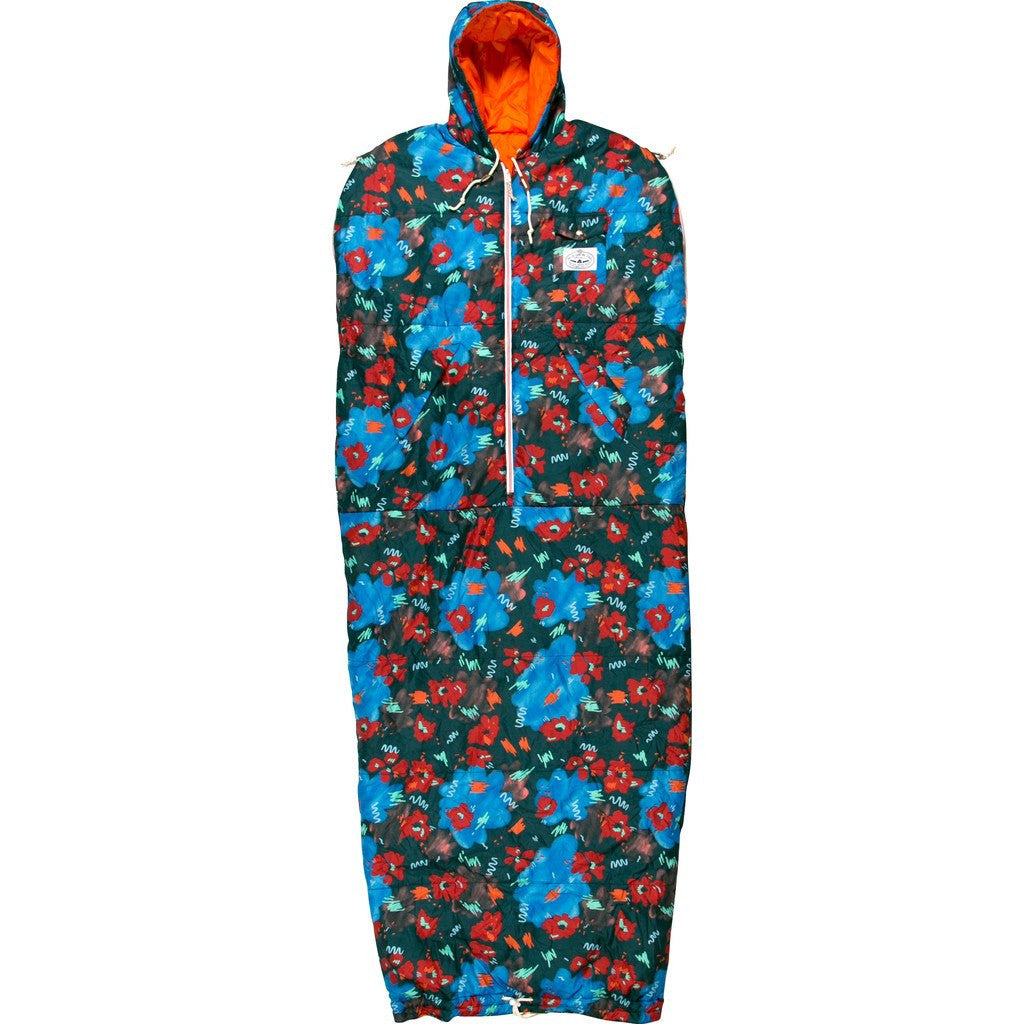 Poler Napsack Wearable Sleeping Bag | Blue Steel Floral Fantasia