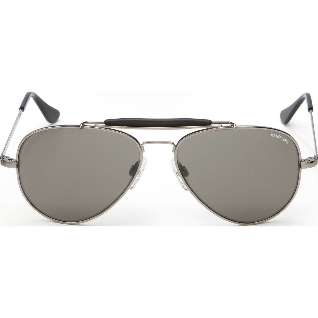 Randolph Engineering Sportsman Gunmetal Sunglasses | Gray Polarized Glass Skull 57MM SP7R434