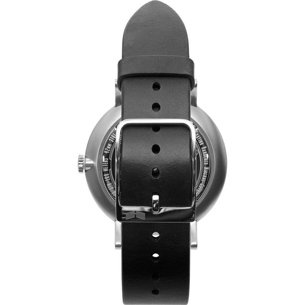 Vestal The Sophisticate 36 Italian Leather Watch | Black/Silver/White-Blue