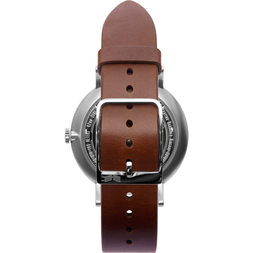 Vestal The Sophisticate 36 Italian Leather Watch | Cordovan/Silver/White-Blue