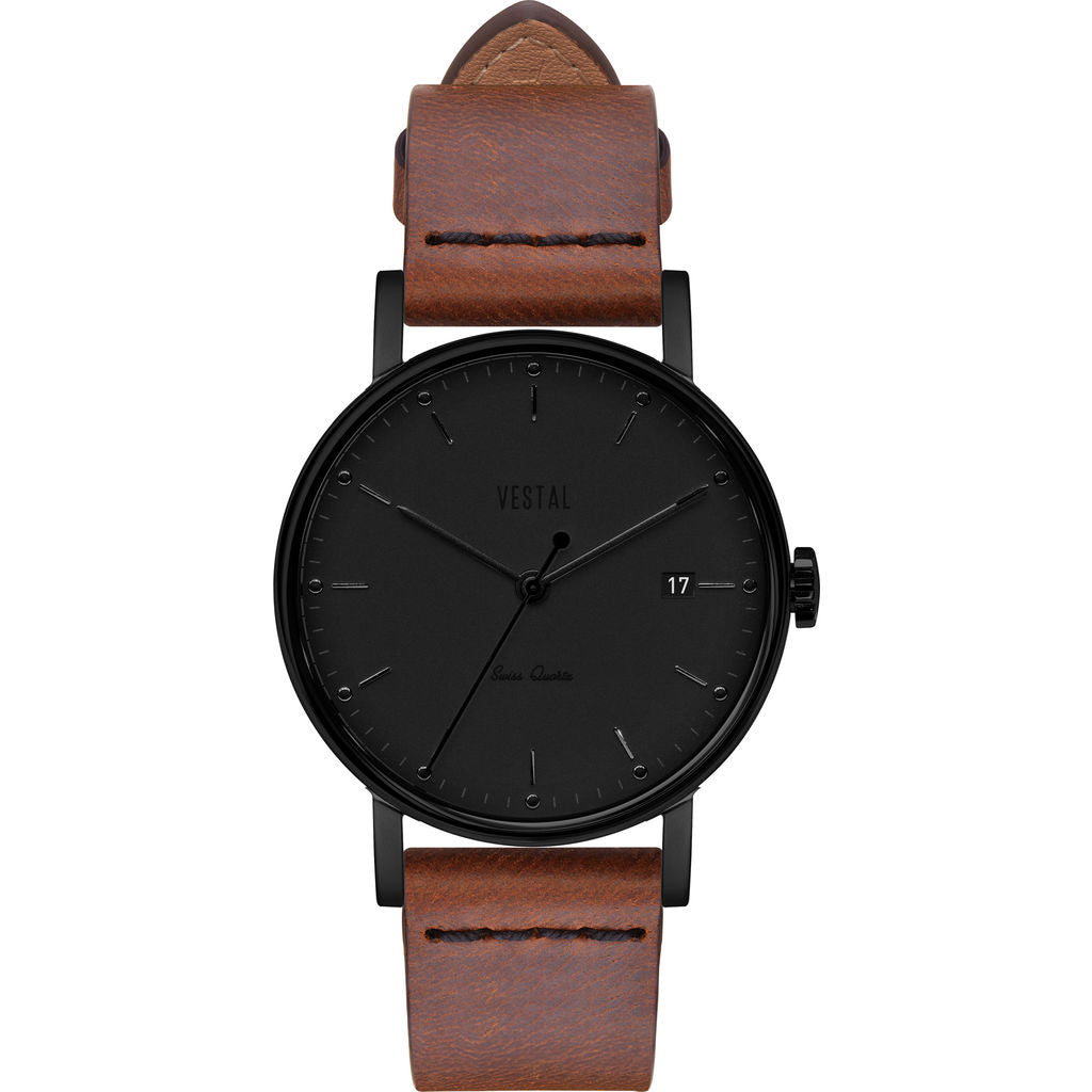 Vestal The Sophisticate 36 Italian Leather Watch | Cordovan/Black