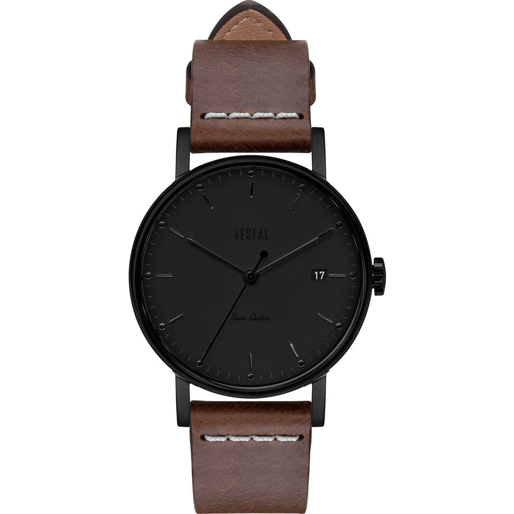 Vestal The Sophisticate 36 Italian Leather Watch | Light Brown/Black