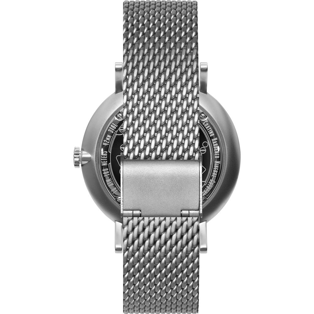 Vestal The Sophisticate 36 Metal Watch | Silver/White-Blue/Mesh