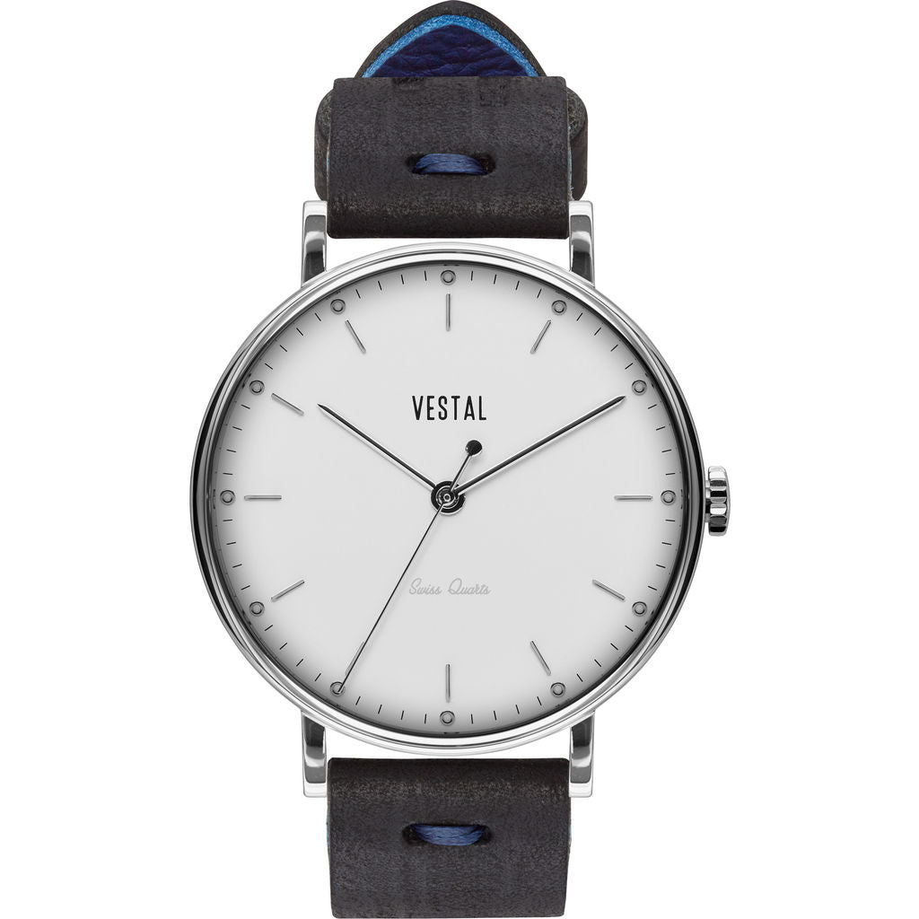 Vestal The Sophisticate Makers Edition Watch | Black-Blue/Silver/White