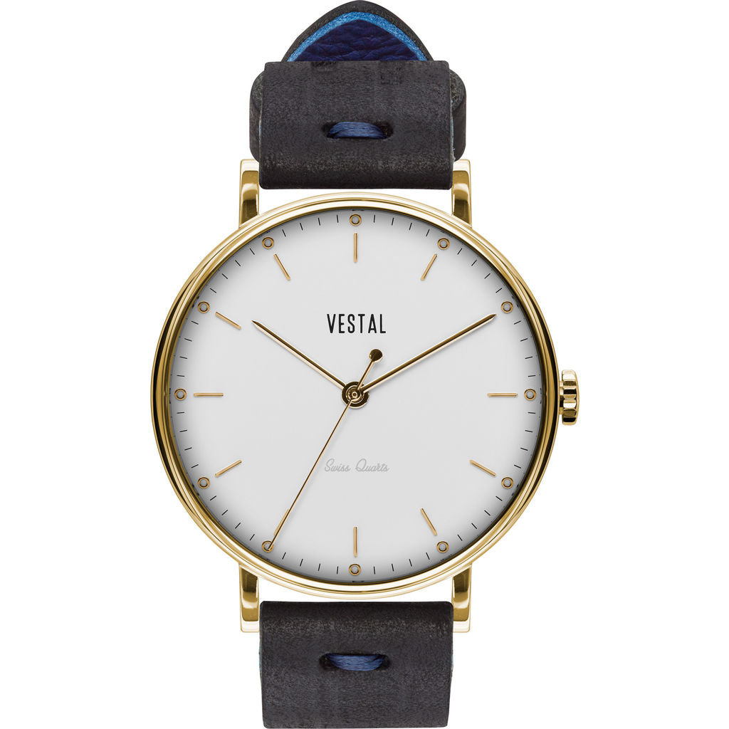 Vestal The Sophisticate Makers Edition Watch | Black-Blue/Gold/White