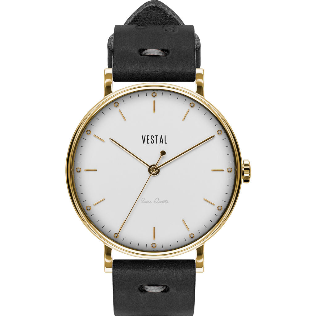 Vestal The Sophisticate Makers Edition Watch | Black-Grey/Gold/White