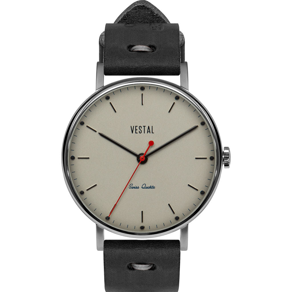 Vestal The Sophisticate Makers Edition Watch | Black-Grey/Silver/Metallic White