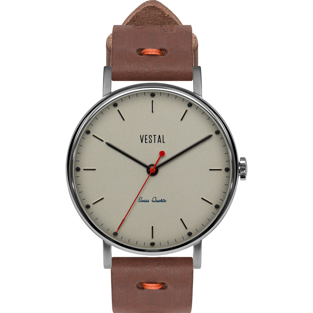 Vestal The Sophisticate Makers Edition Watch | Chocolate/Silver/Metallic White