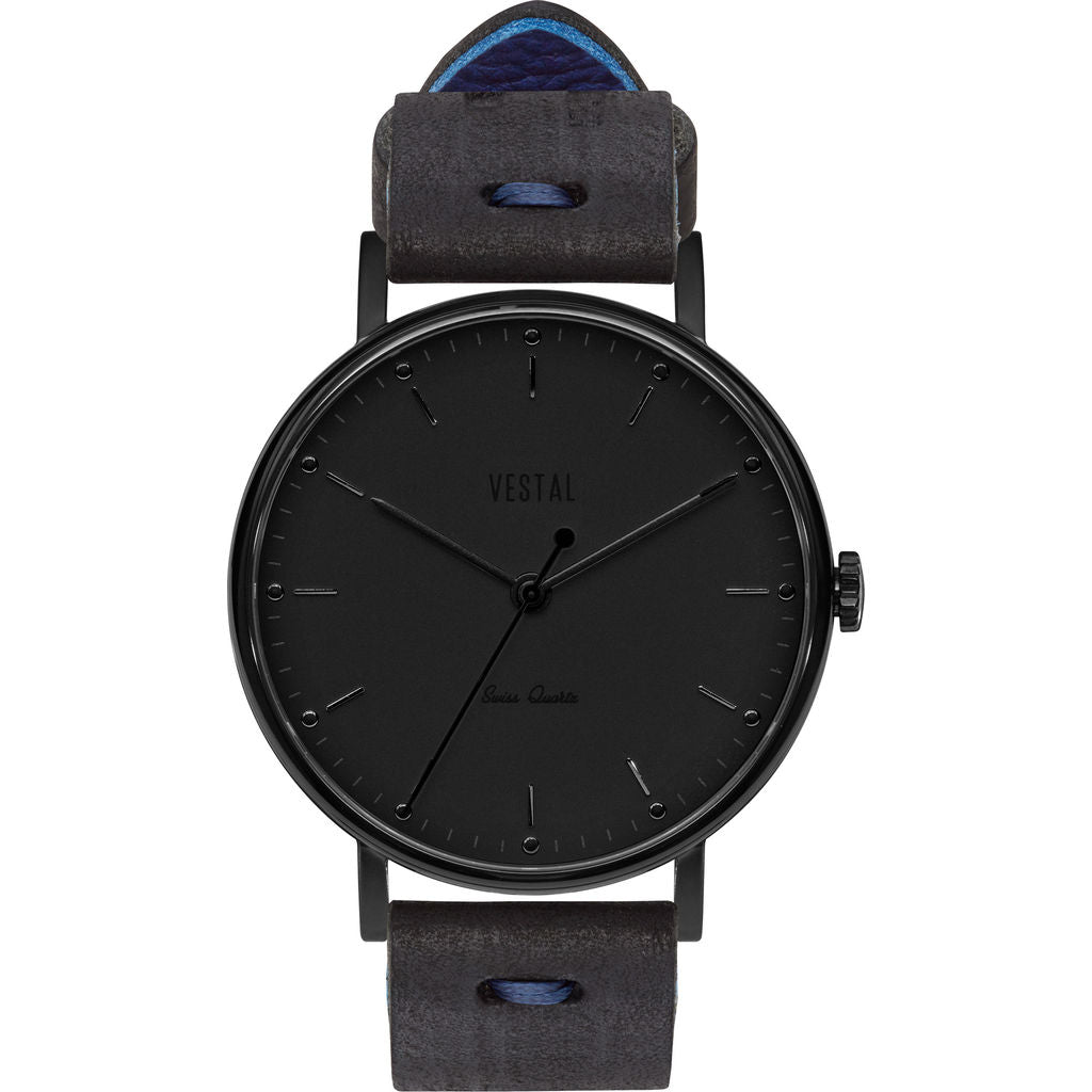 Vestal The Sophisticate Makers Edition Watch | Black-Blue/Black/Black