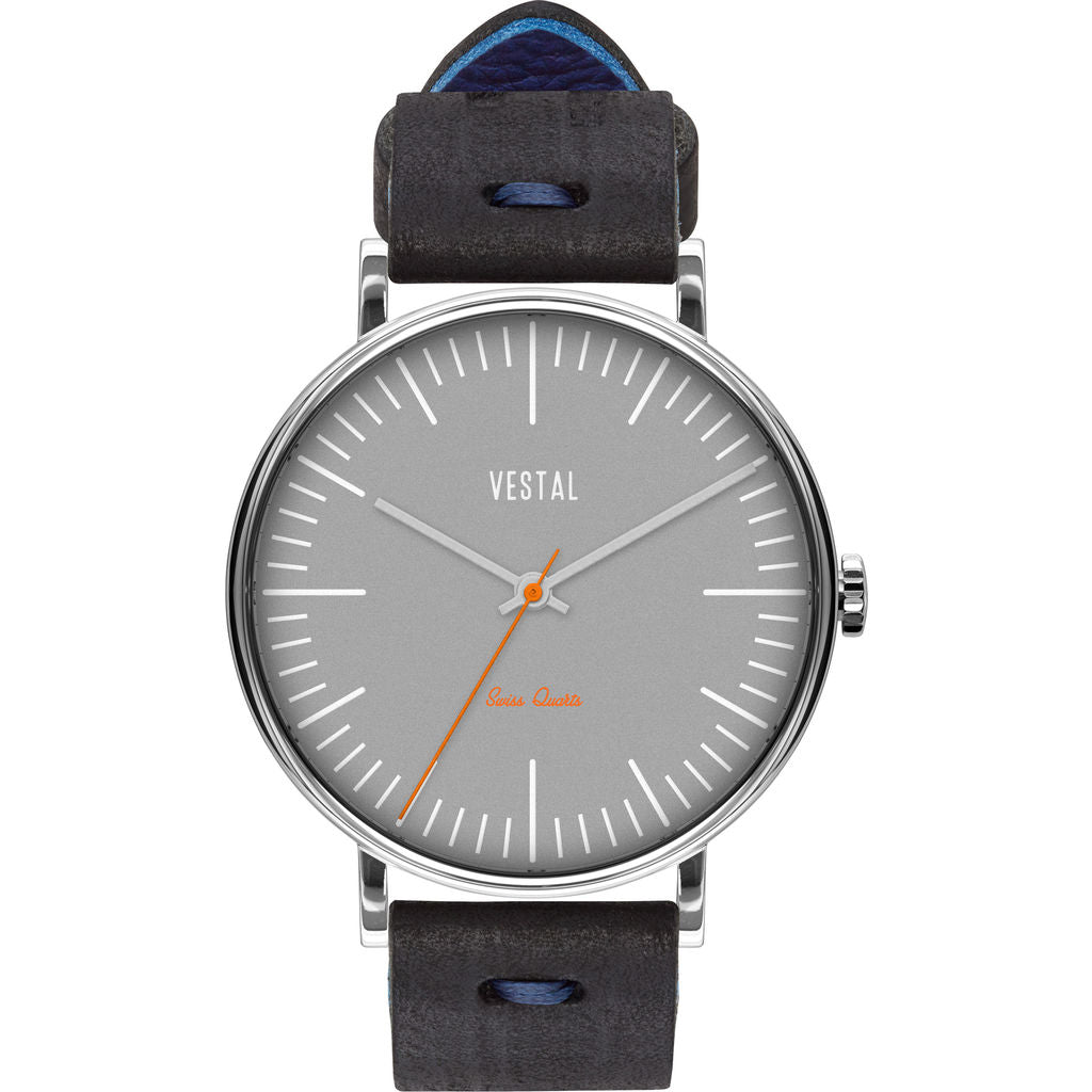 Vestal The Sophisticate Makers Edition Watch | Black-Blue/Silver/Grey
