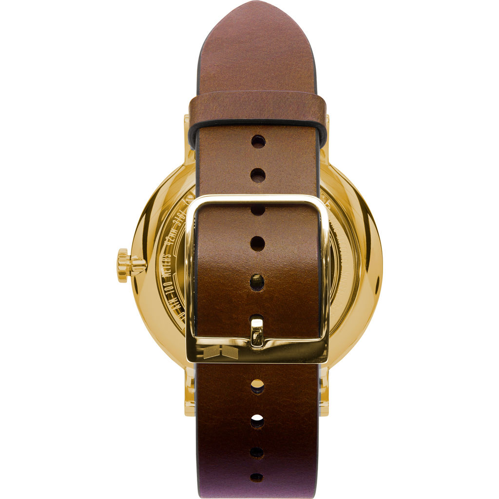 Vestal The Sophisticate Italian Leather Watch | Brown/Gold/White