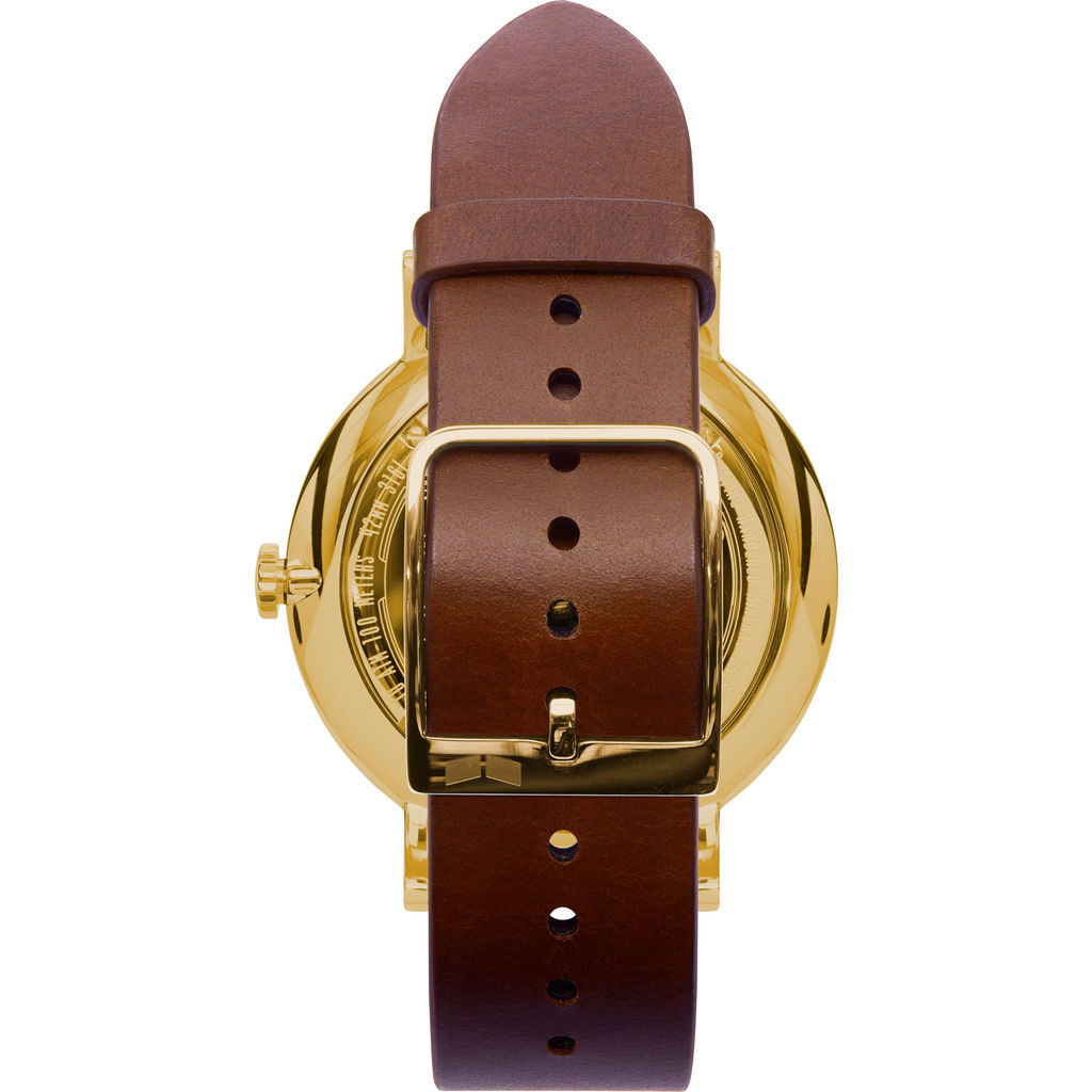 Vestal The Sophisticate Italian Leather Watch | Cordovan/Gold/Black