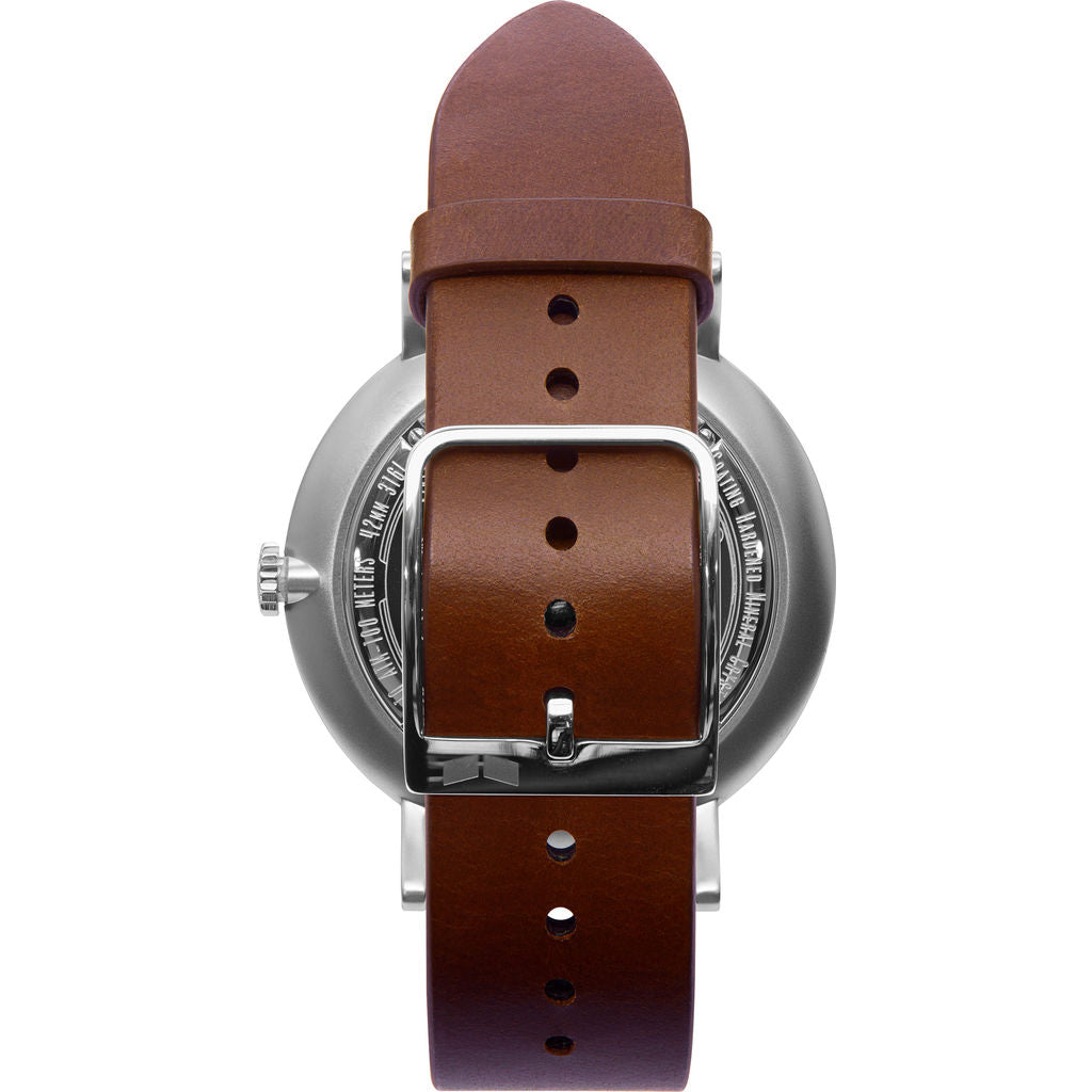 Vestal The Sophisticate Italian Leather Watch | Cordovan/Silver/Marine