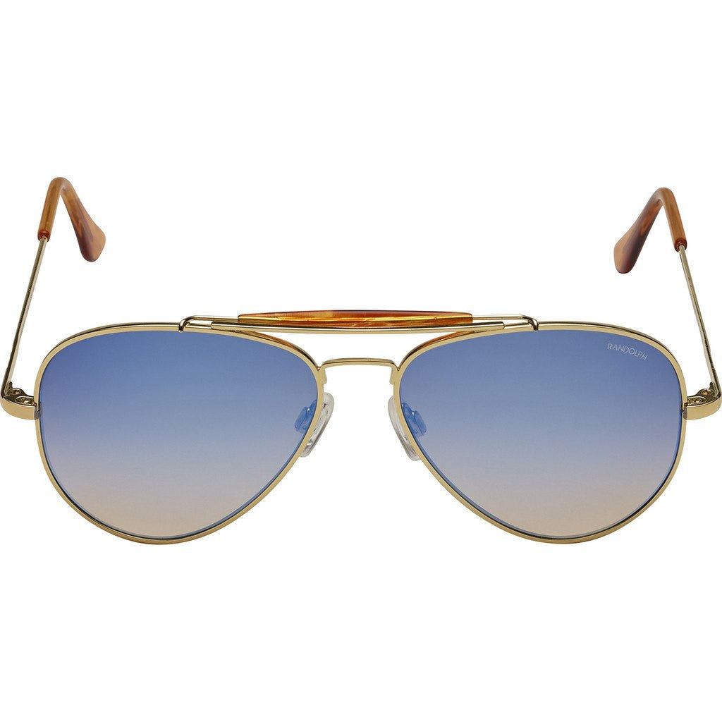 1f0055a0efa5 ... Randolph Engineering Sportsman 23K Gold Sunglasses | Oasis Metallic  Nylon AR Skull 57MM SP71406-NY ...