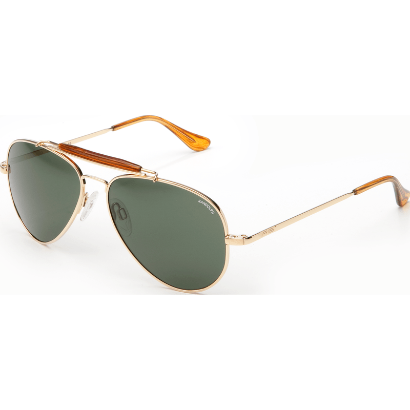 Randolph Engineering Sportsman 23K Gold Plated Sunglasses | AGX PC Skull 57MM SP71414-PC