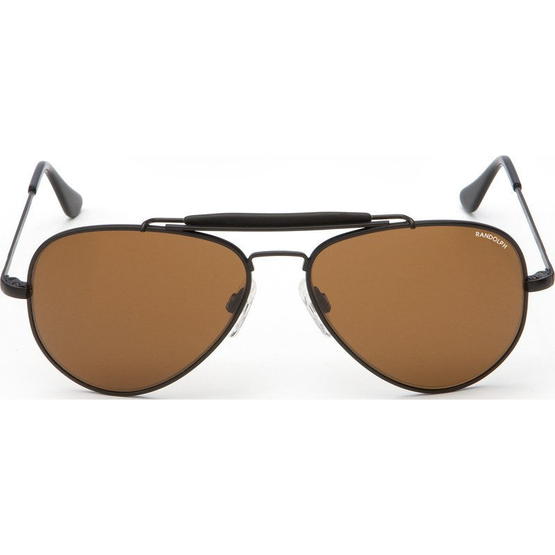 Randolph Engineering Sportsman Matte Black Sunglasses | Tan Skull