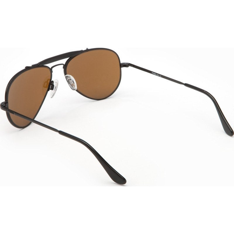 Randolph Engineering Sportsman Matte Black Sunglasses | Tan Polarized Skull