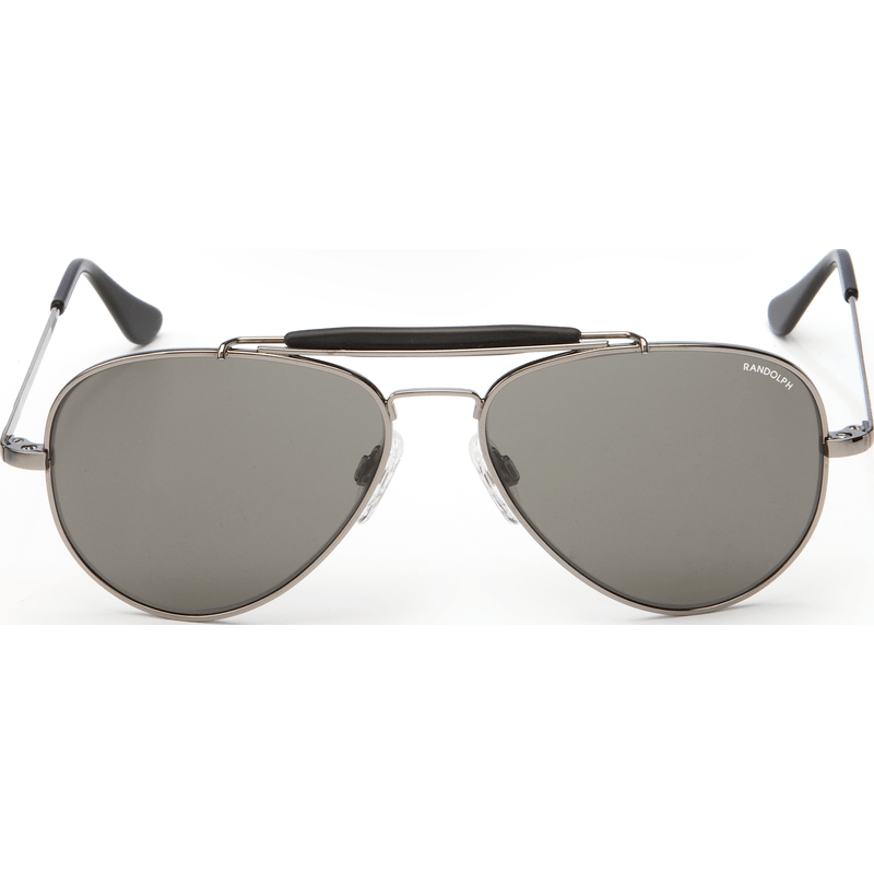Randolph Engineering Sportsman Gunmetal Sunglasses | Gray Glass Skull 57MM SP7R411