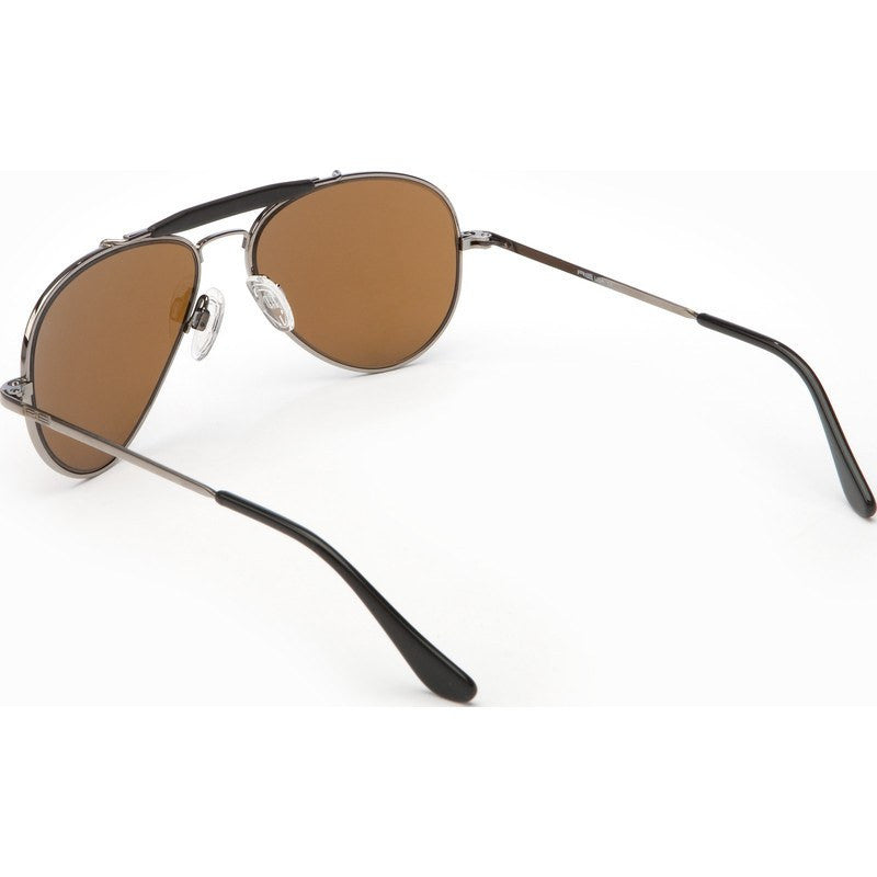 Randolph Engineering Sportsman Gunmetal Sunglasses | Tan Polarized Skull