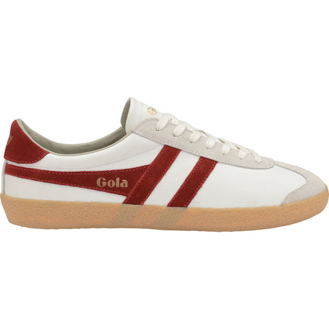 Gola Men's Specialist Leather Sneakers | White/Deep Red/Gum