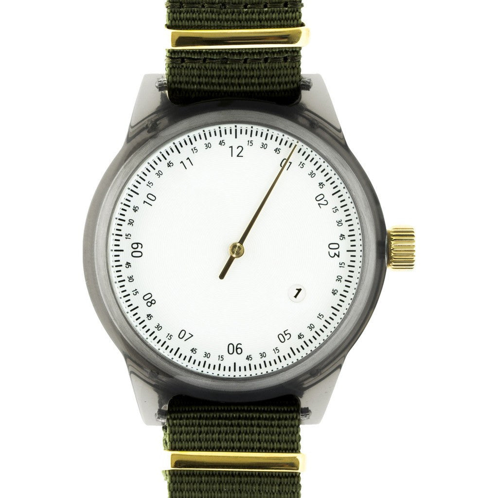 squarestreet SQ03 Minuteman One Hand Off-White Watch | Grey/NATO SQ03 A-06