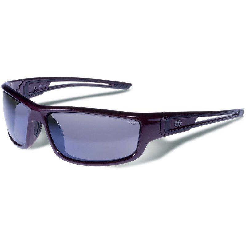 Gargoyles Squall Dark Red Metallic Sunglasses | Smoke/Silver/Polarized