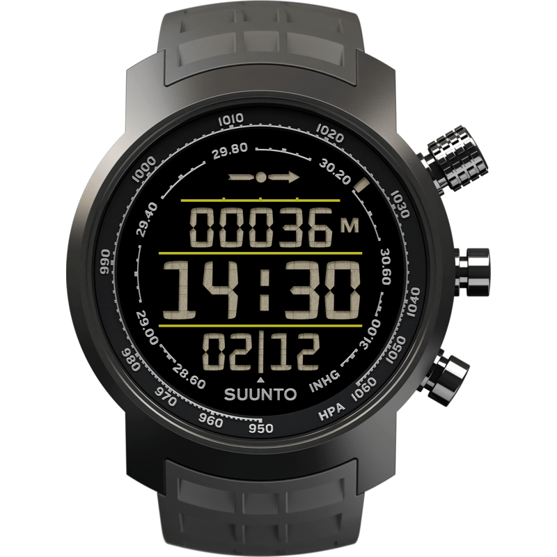 Suunto Elementum Terra Altimeter Watch | Stealth Negative Grey Rubber SS020336000