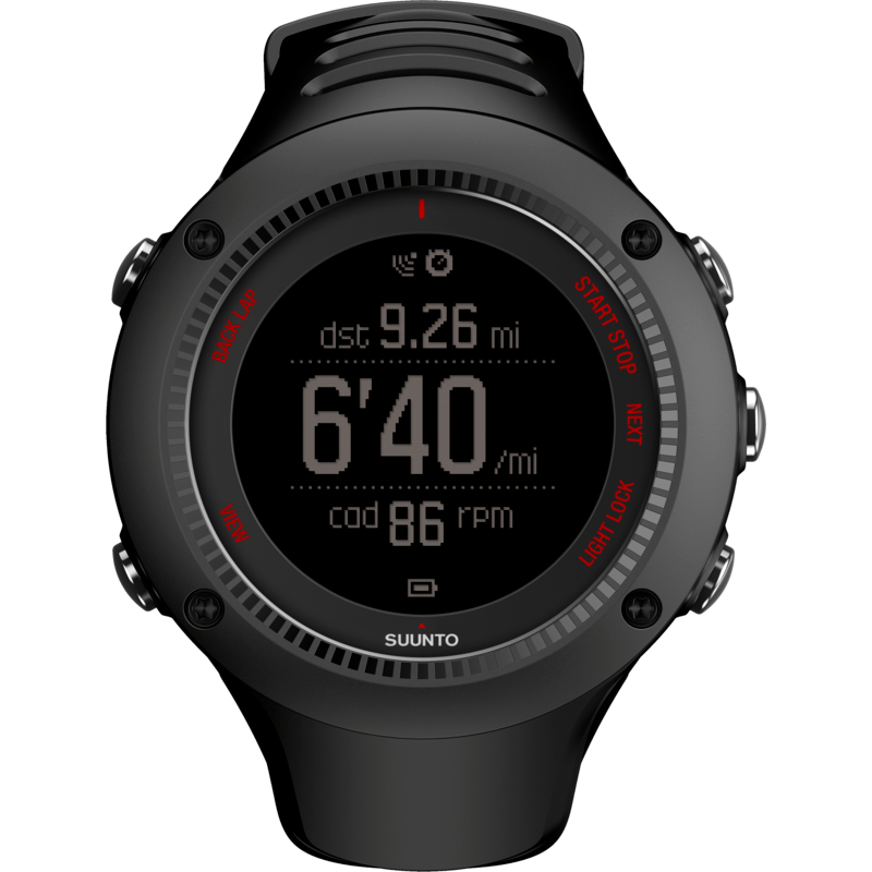 Suunto Ambit3 Run HR Fitness Watch | Black SS021257001