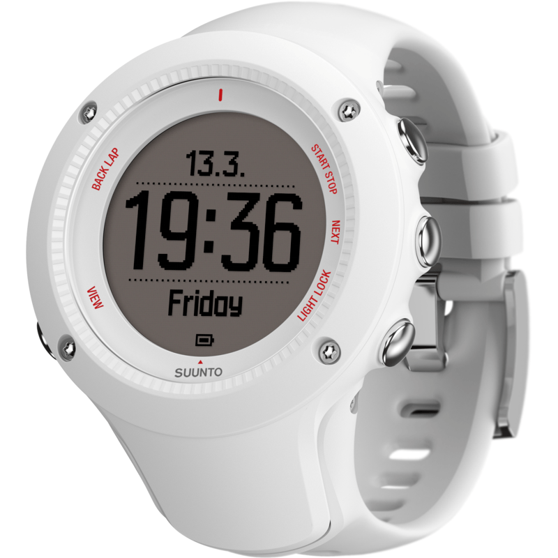 Suunto Ambit3 Run HR Fitness Watch | White SS021259000