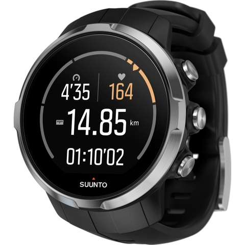 Suunto Spartan Sport Multisport GPS Watch HR Bundle | Black SS022648000