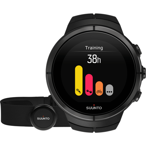 Suunto Spartan Ultra Multisport GPS Watch HR Bundle | Black Titanium SS022654000
