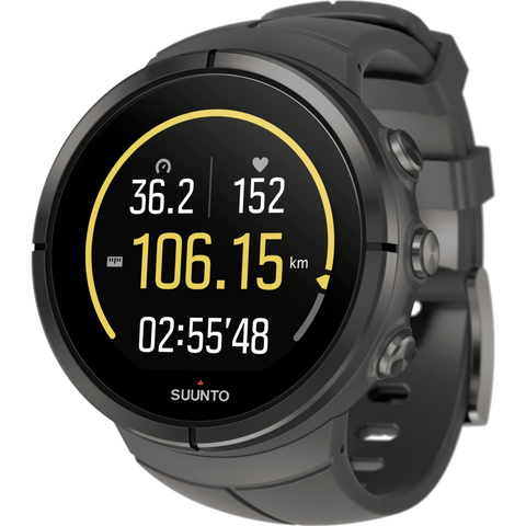 Suunto Spartan Ultra Multisport GPS Watch HR Bundle | Stealth Titanium SS022656000