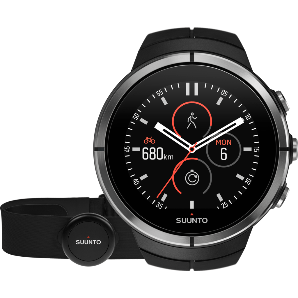Suunto Spartan Ultra Multisport GPS Watch HR Bundle | Black SS022658000