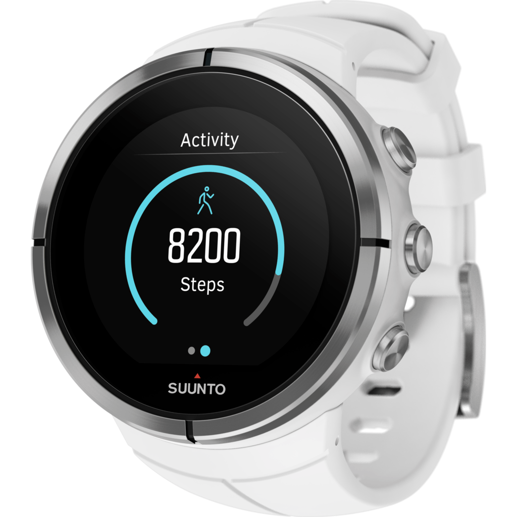 Suunto Spartan Ultra Multisport GPS Watch HR Bundle | White SS022660000