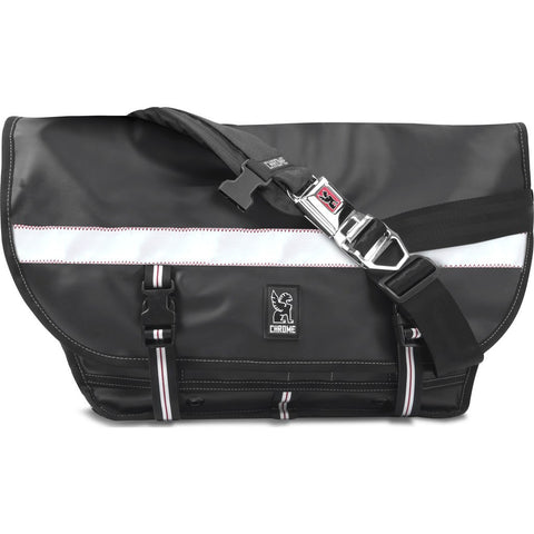 Chrome Rubberized Citizen Messenger Bag | Black BG-002-BKSF