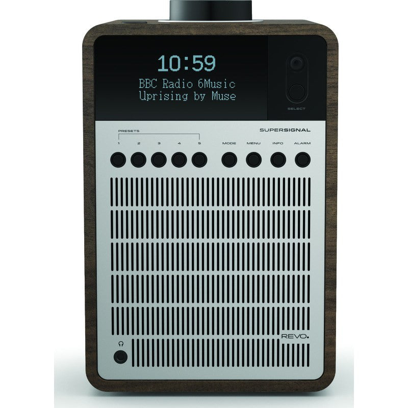REVO SuperSignal Bluetooth Digital Radio | Walnut/Silver