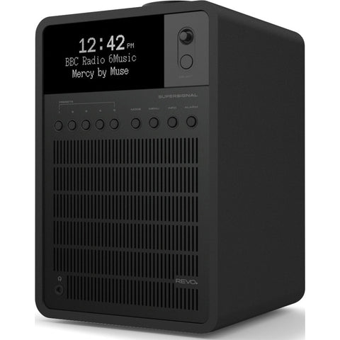REVO SuperSignal Bluetooth Digital Radio | Shadow Matte Black/Black