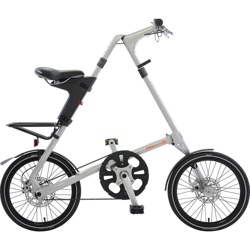 STRiDA EVO Folding Bicycle | Silver ST1806-1-MI