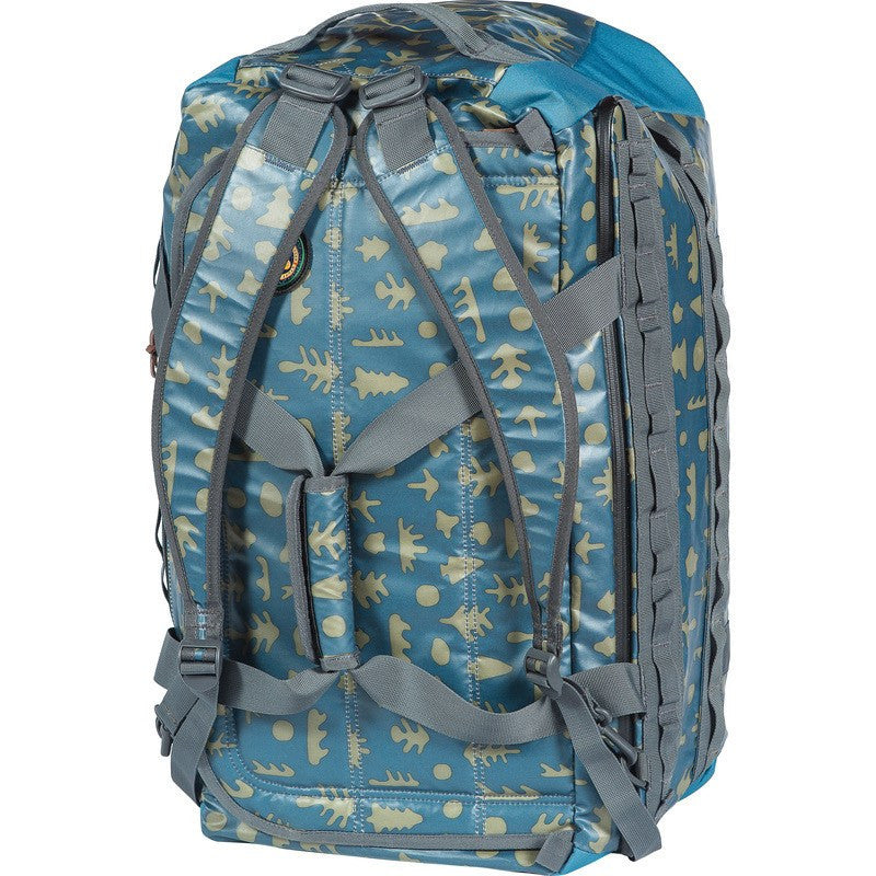 Poler High & Dry 70L Duffel Bag | Ocean Mushy Trees