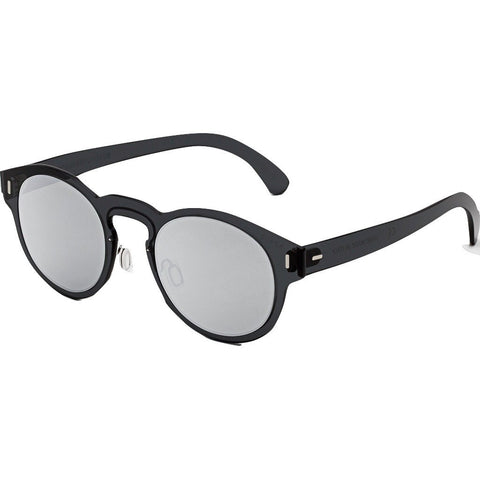 Retrosuperfuture Duo-Lens Paloma Sunglasses | Silver & Black M2G