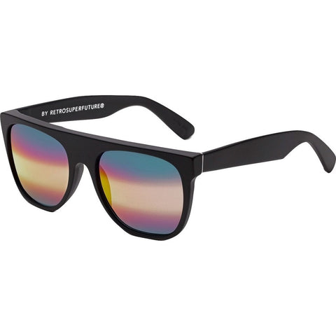 RetroSuperFuture Flat Top Sunglasses | Black/M3 T4D