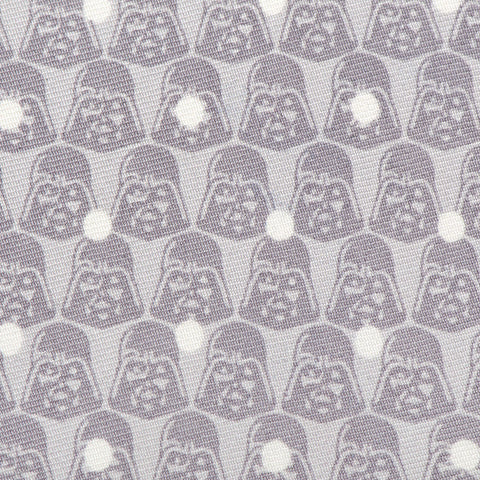 Cufflinks Star Wars Darth Vader Dot Grey Boys' Zipper Tie | Gray SW-DVDT-GRY-KT