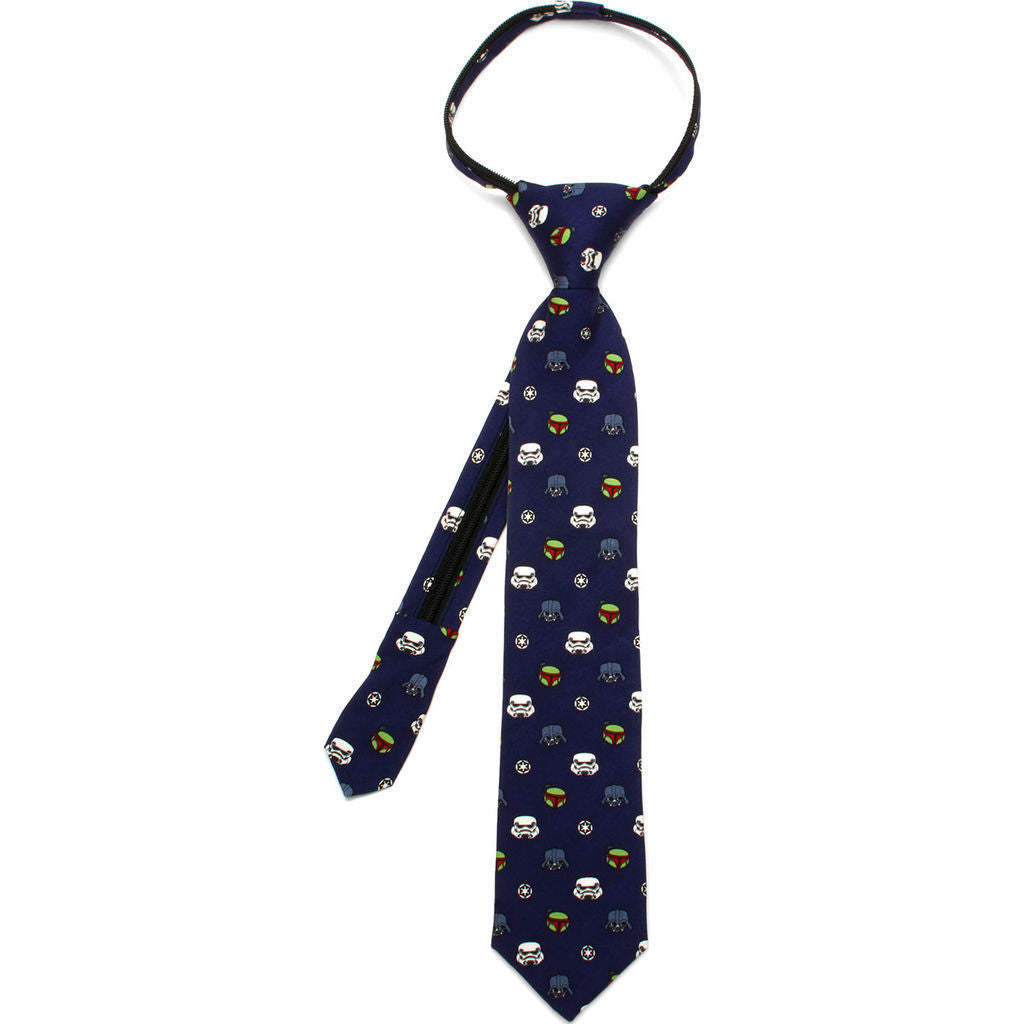 Cufflinks Star Wars Imperial Villains Boys' Zipper Tie | Blue SW-IMPV-BL-KT