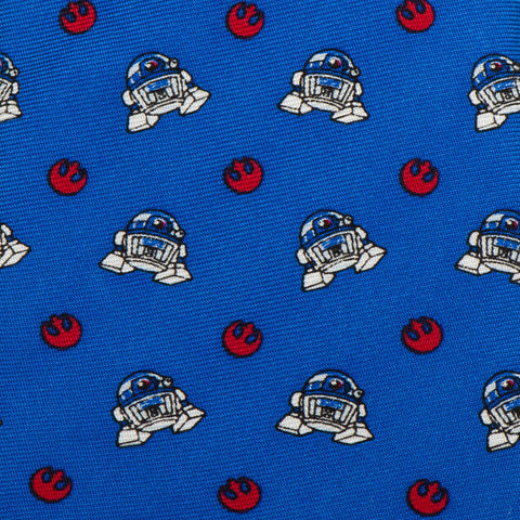 Cufflinks Star Wars R2D2 Blue Boys' Zipper Tie | Blue SW-R2REB-BL-KT