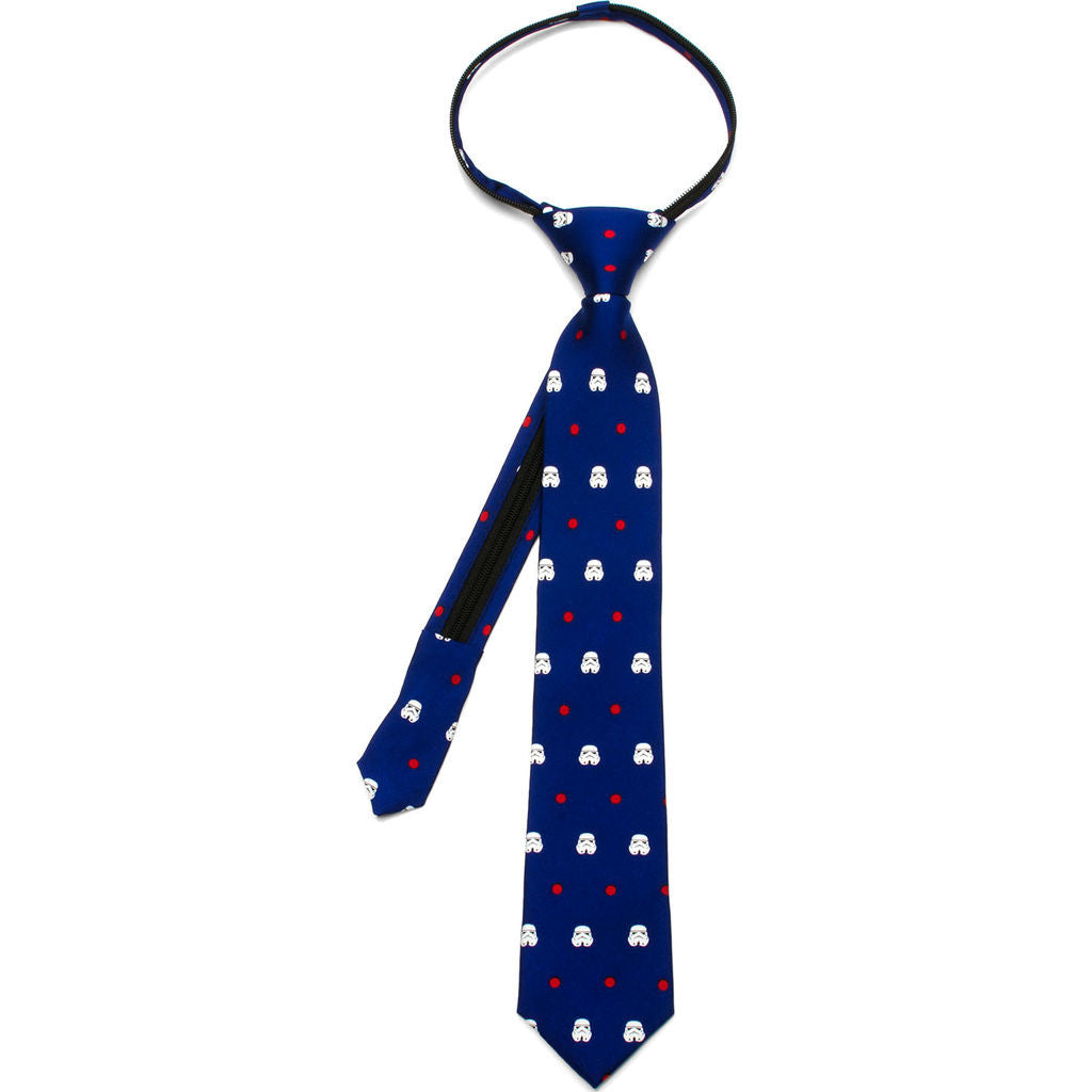 Cufflinks Star Wars Blue Stormtrooper Dot Boys' Zipper Tie | Blue SW-STDT-BL-KT