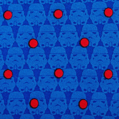 Cufflinks Star Wars Stormtrooper Dot Blue Boys' Zipper Tie | Blue SW-STDT2-BL-KT