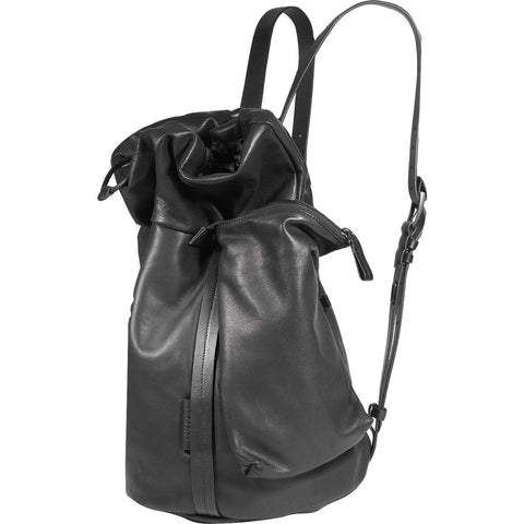 Cote&Ciel Saar Alias Medium Cowhide Leather Tote | Agate Black 28462